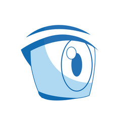 comic eye looking expression vision vector image