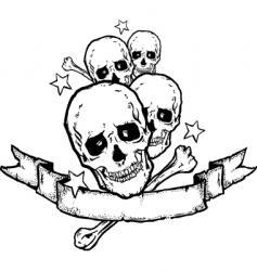 heavy metal rock banner tattoo vector image vector image