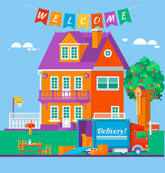 housewarming apartment moving new dwelling vector image vector image
