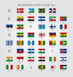 set of sovereign state flags d-j vector image vector image