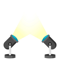 two spotlights in flat style vector image
