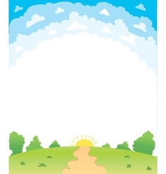 a beautiful summer vector image