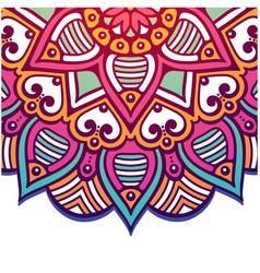 abstract mandala pink flower design image vector image
