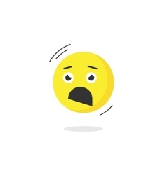 Fear emoticon face icon isolated scared emotion vector image