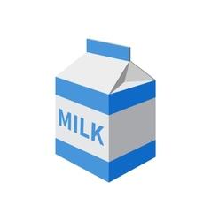 Milk packet vector