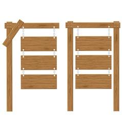 wooden board 03 vector image vector image