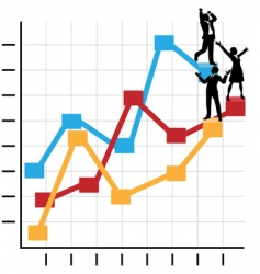 business people graph vector image vector image