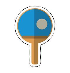 cartoon ping pong paddle ball vector image