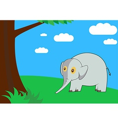 Elephant in the forest vector image vector image