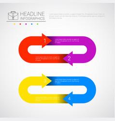 headline infographic business data arrow vector image vector image