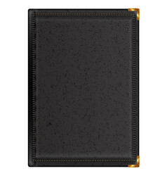 notepad in black leather binding vector image