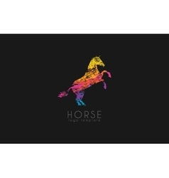 Horse logo emblem template Creative logo vector image vector image