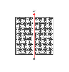 maze labyrinth greek puzzle with solution vector image vector image