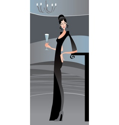 sexy woman and the paty vector image