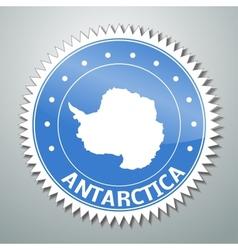 Antarctic flag label vector
