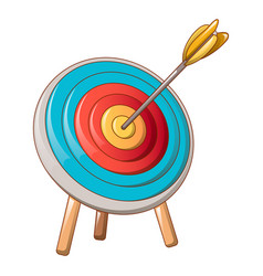 archery target icon cartoon style vector image