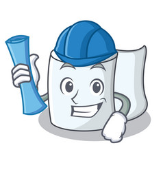 architect tissue character cartoon style vector image