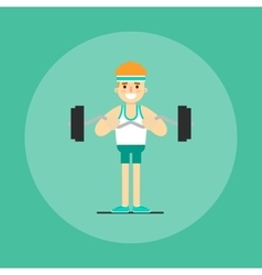 Athletic young man doing exercise vector image