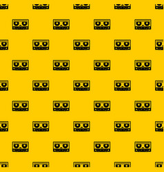 Audio cassette tape pattern vector