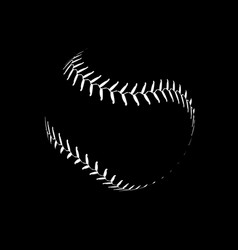 baseball lace ball isolated symbol vector image
