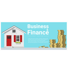business and finance concept background vector image