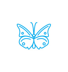 Butterfly linear icon concept butterfly line vector