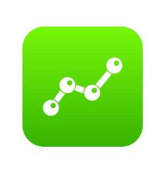 chart statistics line icon digital green vector image