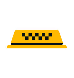 Checker taxi cab vector