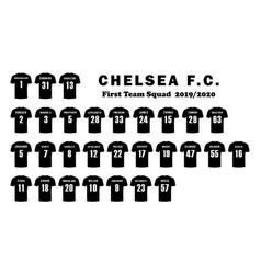 Chelsea football club first team players squad vector
