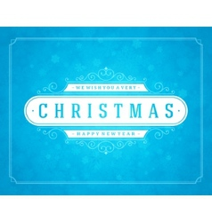 Christmas retro typography and light snowflakes vector image