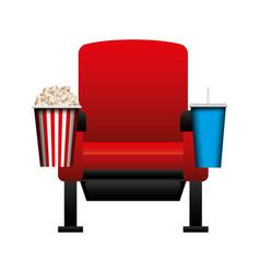 Cinema chair isolated icon vector