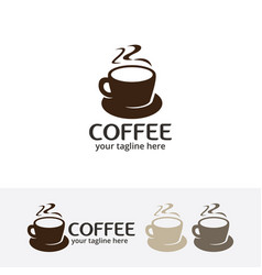 coffee cafe logo vector image