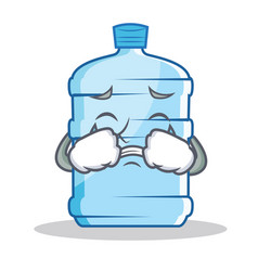 Crying gallon character cartoon style vector