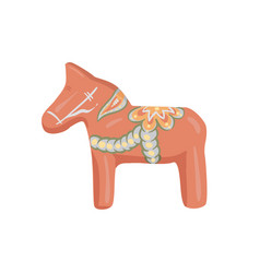 dalahorse isolated vector image