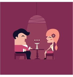 date dinner vector image vector image
