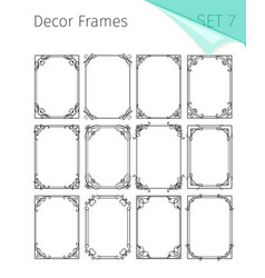 decorative vintage floral frames vector image