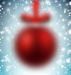 Defocused red christmas ball vector