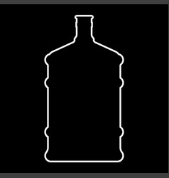 dispenser large bottles white color icon vector image