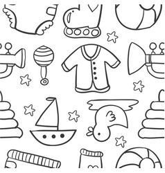 doodle of baby style design vector image