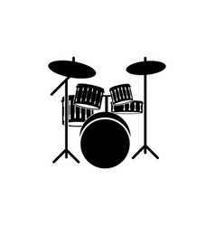 drum graphic design template isolated vector image