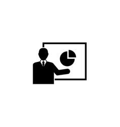 financial presentation flat icon vector image