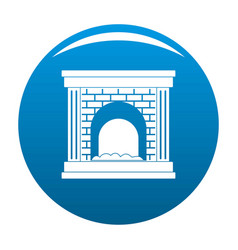 Fireplace for fire icon blue vector