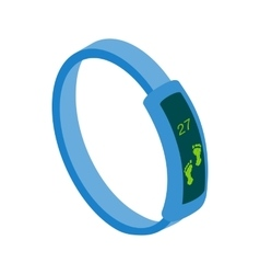Fitness tracker icon isometric 3d style vector