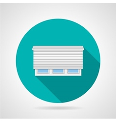 Flat color roller shutter window icon vector