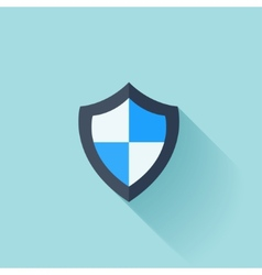 Flat shield protection icon vector image