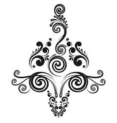 Floral decorative calligraphic element vector