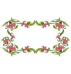 Flowery border vector image