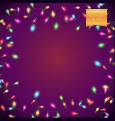 full frame square purple background with colorful vector image