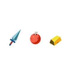 Game assets collection element for mobile game vector