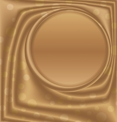 Gold metal picture frame at the top of the circle vector